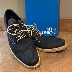 14th & Union Men's Arlington Derby 13M Navy Nubuck